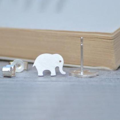 Elephant Earring Studs, Animal Earr..