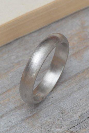 Platinum Wedding Band, Platinum Wedding Ring, Heavy Domed Comfort Fit Wedding Band, 4mm Wide Or 5 mm Wide, Simple Wedding Ring