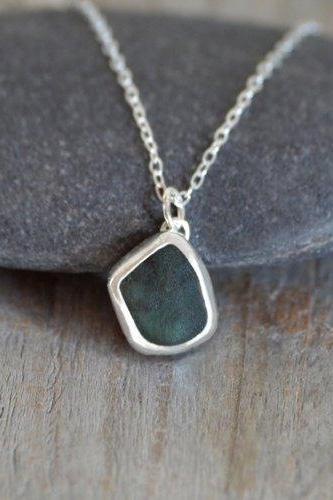 Raw Emerald Necklace, 4.15ct Emerald Necklace, May Birthstone Necklace, Small Emerald Necklace Handmade In The UK