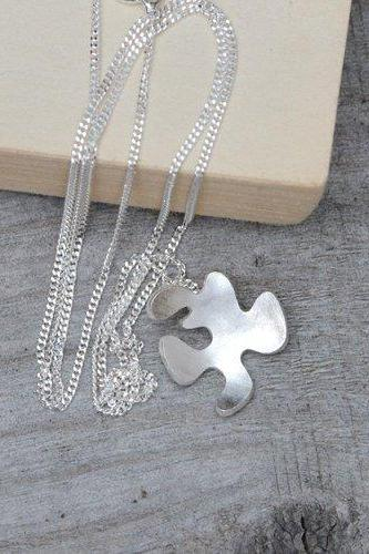 Petal Necklace, Flower Necklace In Sterling Silver, Handmade In The UK