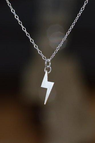 Lightning Bolt Necklace, Weather Forecast Necklace In Sterling Silver, Handmade In The UK