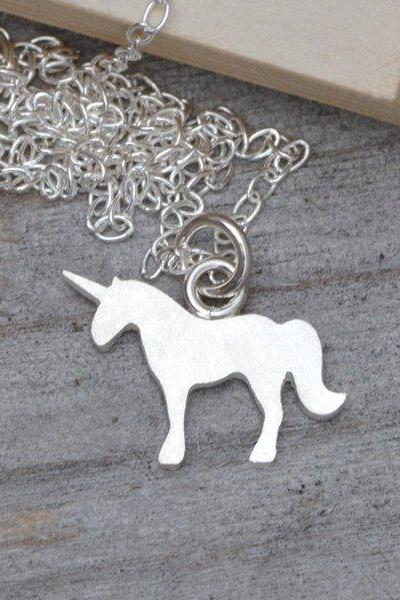 Unicorn Necklace In Sterling Silver, Fairy Tale Unicorn Necklace, Handmade In Beautiful Cornwall